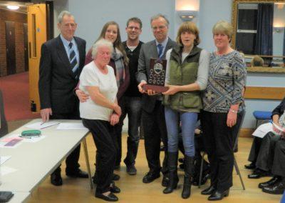 AGM 2020 Bernard Lawson trophy to Mist family