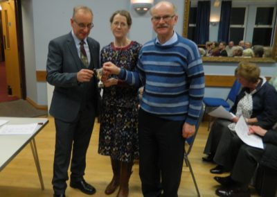 agm 2020 Lister Trophy to Ruth andTim Moorhouse