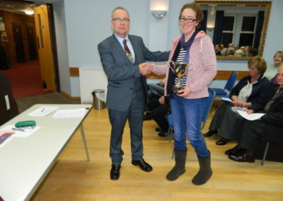 AGM 2020 Frank Pope trophy to Julia Brown